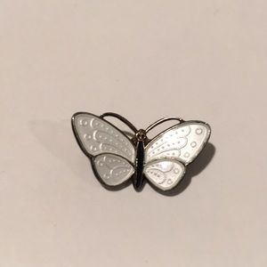 Vintage David Andersen Butterfly Enamel 925 Brooch